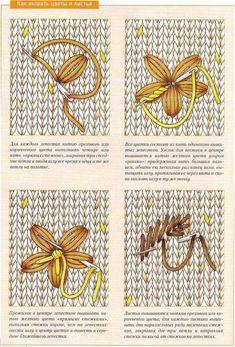 Вышивка на вязаном изделии. - Сундучок мастерицы Sweater Knitting Patterns, Knitting Stitches, Knit Patterns, Wool Embroidery, Cross Stitch Embroidery, Embroidery Patterns, Crochet Pikachu, Crochet Clothes, Knitting Projects