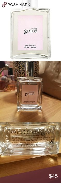 Philosophy amazing grace perfume Only used a few times Philosophy Makeup