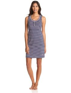Nautica Sleepwear Women's Stripe Tank Chemise « Clothing Impulse