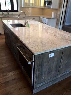 Light Granite - River White Granite - Kitchen Island - Countertop Remodel - Home…