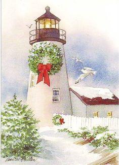 watercolor the art impressions way - snowy winter barn scen Watercolor Christmas Cards, Diy Christmas Cards, Christmas Scenes, Noel Christmas, Watercolor Cards, Watercolor Paintings, Watercolours, Christmas Artwork, Christmas Paintings