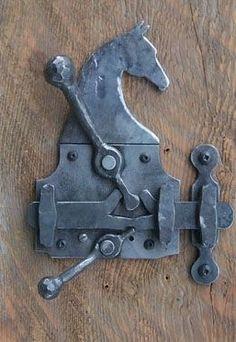 Ideas For Barn Door Handles Hardware Hands Knobs And Knockers, Knobs And Handles, Door Knobs, Door Handles, Door Latches, Metal Projects, Welding Projects, Metal Crafts, Equestrian Decor