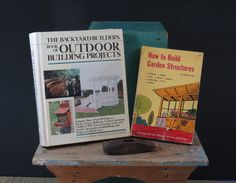 2 Outdoor Building Project Books Mid Century by 13thStreetEmporium, $18.00