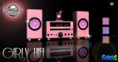 Girly Hifi stereo at Jomsims Creations • Sims 4 Updates