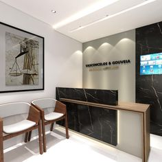 Law Office Design, Office Reception Design, Law Office Decor, Modern Office Design, Office Furniture Design, Workspace Design, Office Interior Design, Office Interiors, Industrial Home Offices