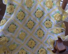 New Crocheted Sweet Dreams Baby Afghan in in your choice of colour Baby Afghan Crochet, Baby Afghans, Hand Crochet, Yellow Roses, Pink Roses, Sweet Dreams Baby, Pineapple Design, Dream Baby, Baby Shower