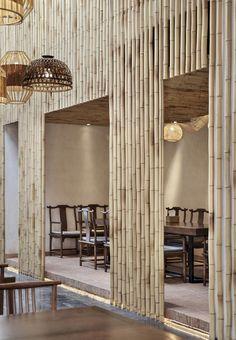 Image 11 of 15 from gallery of Brick Kiln Folk Inn & Museum - Interior Design / H DESIGN. Photograph by Qilin Zhang, Xiang Qian H Design, Cafe Design, Design Firms, Design Ideas, Bar Design Awards, Deco Restaurant, Restaurant Interior Design, Bamboo House Design, Bamboo Building
