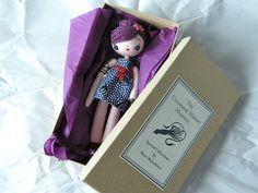 Japan Relief: Sea Cutie Doll (violet) with a box by hine, via Flickr