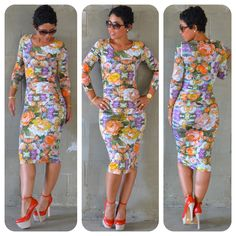 #DIY Figure Flattering #Florals + #Tracyreese Pattern Review V1314 @ www.mimigstyle.com