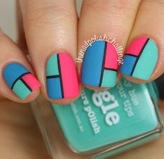 piCture pOlish Swatch Spam   Color Blocking Nail Art