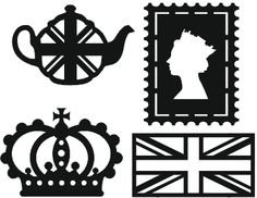 Mini Mica Masks - Set of 4 British