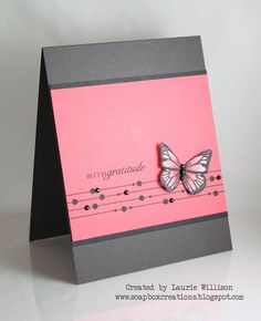 butterfly card - I have the perfect fancy yarn for this