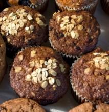 Quick-to-bake muffins with extra oats added. Nice for a healthy lunch box.