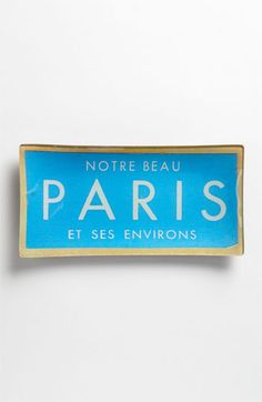 #BoydMakeRoomForColor Ben's Garden 'Vintage Paris Ticket' Trinket Tray available at #Nordstrom