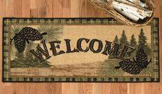 "Welcome to the Forest Pinecone Bath Rug. Measures 20""W x 44""L $ 49.95"