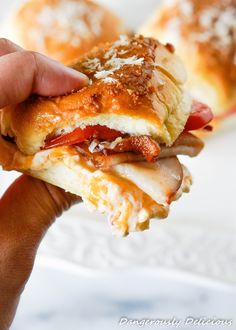 Kentucky Hot Brown Sliders, a famous open-faced sandwich served at the Brown Hotel in Kentucky has now been turned into a slider! No need to wait for the Kentucky Derby to serve these babies. They're the perfect breakfast sandwich, brunch entree, appetizer or party platter. I must warn you, these sandwiches are INCREDIBLE! I tried…