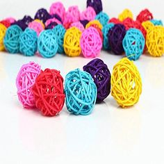 SOLOKA 50PCS 3cm Mix color Wedding Decorative Rattan Ball Christmas Home Ornament >>> Read more  at the image link.Note:It is affiliate link to Amazon.