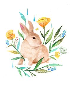 Meadow Bunny by FlorandFawn on Etsy