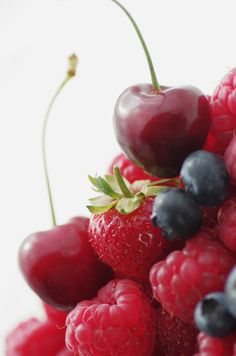 Frische Früchte an der Wand