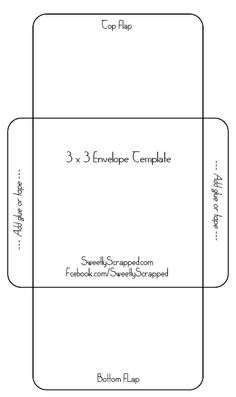 Free Printable X Envelope Template - 4x6 envelope template