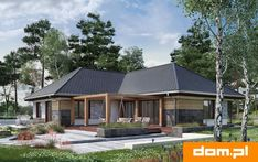 DOM.PL™ - Projekt domu AN TYMOTEUSZ G2 CE - DOM AO10-56 - gotowy koszt budowy Home Fashion, Beautiful Homes, Gazebo, Outdoor Structures, Cabin, House Styles, Outdoor Decor, Home Decor, Little Cottages