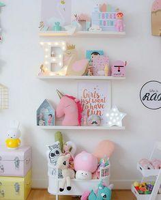 Habitación en colores pastel para niña ¡no te la pierdas!
