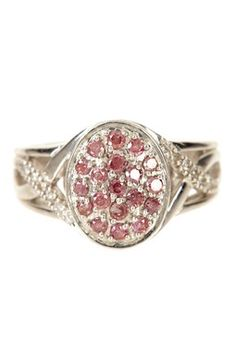 HauteLook | Fabulous Finds: Ring Blowout: Pave Pink Diamond Deco Shank Oval Ring - 0.50 ctw