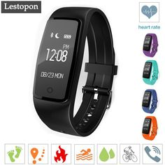 >> Click to Buy << Lestopon New Bluetooth 4.0 Dynamic Health Heart Rate Smart Bracelet Waterproof Swimming Smart Wrist Strap For Android IOS Phone #Affiliate