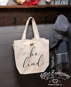 Be Kind - Recycled Cotton Tote Bag | Netties Expressions
