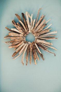 Marvelous treibholz wanddeko blaue wand dekoration diy selber machen
