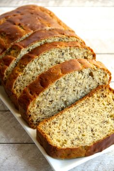 Greek Yogurt Banana Bread by runningwithspoons: So soft and tender that you'd never be able to tell it's made without butter or oil. #Banana_Bread #Healthier