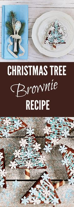 Christmas Tree Brownie Recipe - simple to make, delicious and super fudgy to eat. The perfect Christmas dessert.