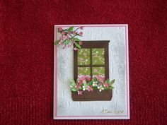 My second try at a window card. Used Poppy Stamps Madison Window die ...