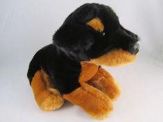 Animal Alley Black Brown Plush Rottweiler Puppy Dog Stuffed Soft Cute Nice | eBay