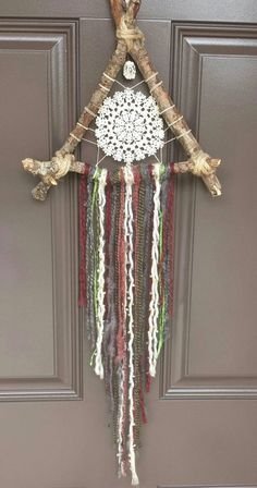 Items similar to Small Bohemian Handmade and Vintage Dream Catcher on Etsy bohemian wedding Items similar to Small Bohemian Handmade and Vintage Dream Catcher on Etsy Dream Catcher Craft, Handmade Dream Catcher, Crochet Dreamcatcher, Crochet Wall Hangings, Diy And Crafts, Arts And Crafts, Crochet Amigurumi, Boho Diy, Driftwood Art