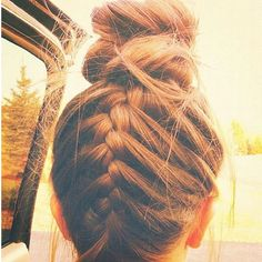 I love this idea of the braid in the back. It adds to my bun obsession