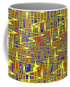 Shocker Color Abstract, Coffee Mug by Tom Janca.  Small (11 oz.)