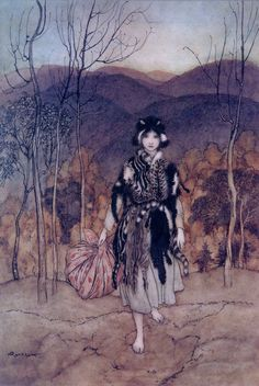 Catskin from the Brothers Grimm, by Arthur Rackham.
