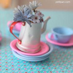 "Coton enduit Petit Pan ""Momoyo"" azur."