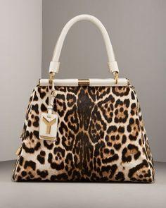 Leopard Kelly Bag w/White Leather Luxury Handbags, Fashion Handbags, Purses And Handbags, Cheap Handbags, Hobo Purses, Popular Handbags, Leopard Print Bag, Leopard Handbag, Cheetah