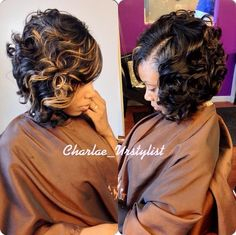 Gorgeous hair do I would love to wear this hairdo❤❤❤ My Hairstyle, Pretty Hairstyles, Sew In Bob Hairstyles, Quick Weave Hairstyles, American Hairstyles, Braid Hairstyles, Love Hair, Gorgeous Hair, Bob Haircut Curly