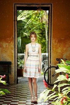 Sunglow Stripes Dress...