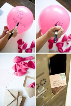 Send a balloon with a sweet message for your friend to blow up when she gets it!