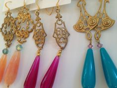 Beautiful Patina earrings, perfect for a night on the town. Various styles available at the Gallery Shop.