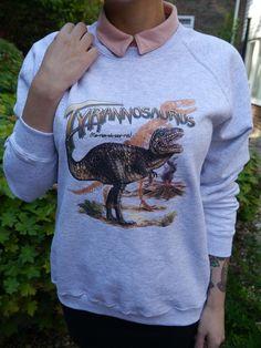 Wildlife Tyrannosaurus Dinosaur jumper, Dinosaur sweatshirt, Dinosaur sweater, Dinosaurs, Unisex, Pre-Historic, New