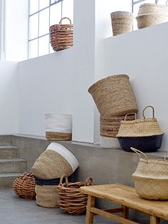 Baskets are wonderfully versatile <3 Design by Bloomingville                                                                                                                                                                                 More
