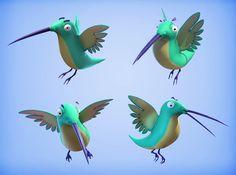 3D humming-bird