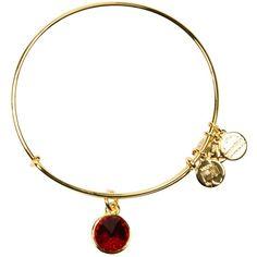 Alex and Ani January Birthstone Bangle (265 ARS) ❤ liked on Polyvore featuring jewelry, bracelets, hinged bangle, adjustable bangle bracelet, alex and ani bracelet, hinged bracelet and gold tone jewelry