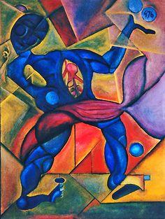 """Have A Heart"" By Cubist Artist: Cliff Richey  http://www.1-cliff-richey.artistwebsites.com"
