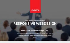 Events is a well customize WordPress theme for conference and festival. theme comes with fully responsive feastures and you can customize any festival's events in impressive manner. Features of this theme are Page Weight optimized for mobile devices, Mobile Optimised Menu, Child Theme support, Eventbrite integration, Awesome animated homepage, Events, sponsors and speakers based on custom fields from posts and many others.